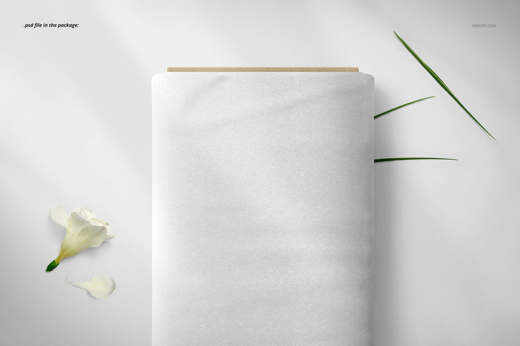 卷状织物布料印花设计展示样机 Fabric Roll Mockup 03/FF v.6插图(3)