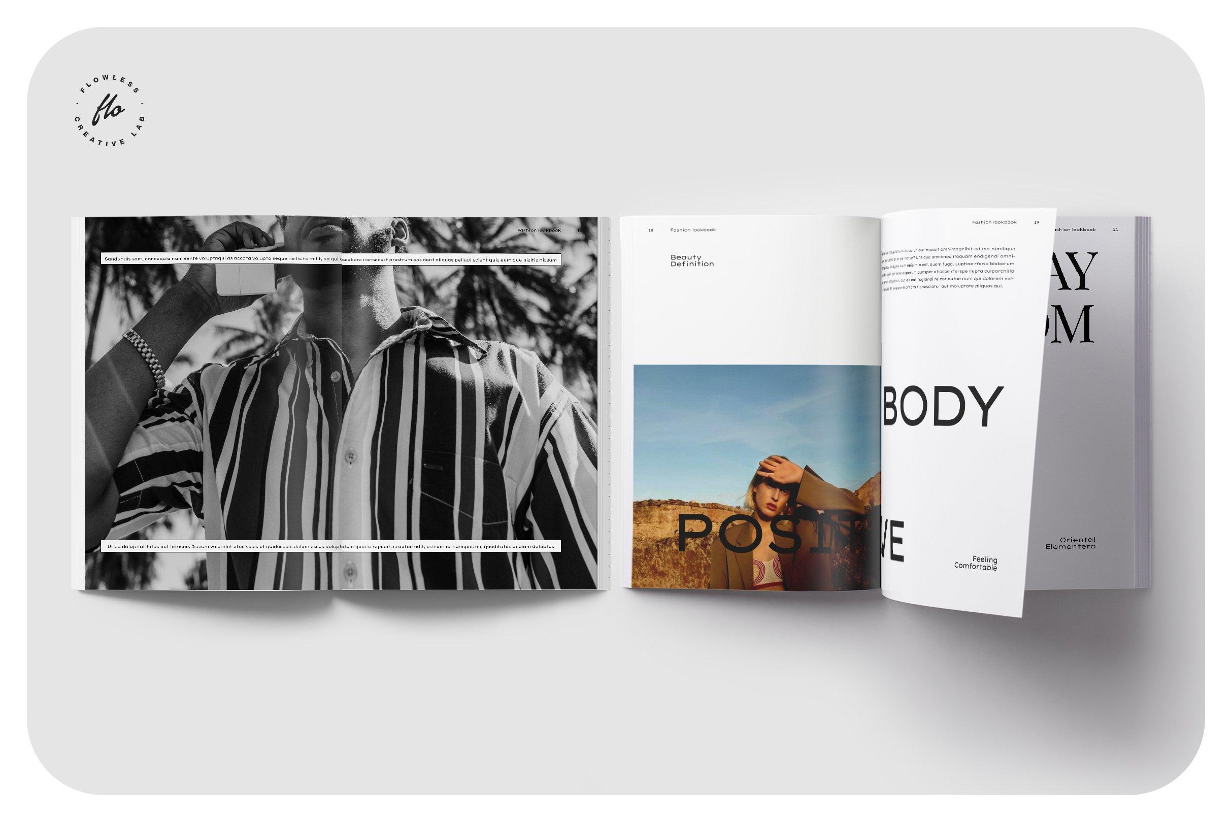 极简服装造型设计INDD画册模板 SOFT TOUCH Fashion Lookbook插图(3)