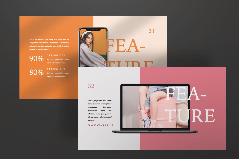 [淘宝购买]现代极简女装品牌摄影作品集设计Keynote演示文稿模板 CLARIS Pastel Keynote Template插图(4)