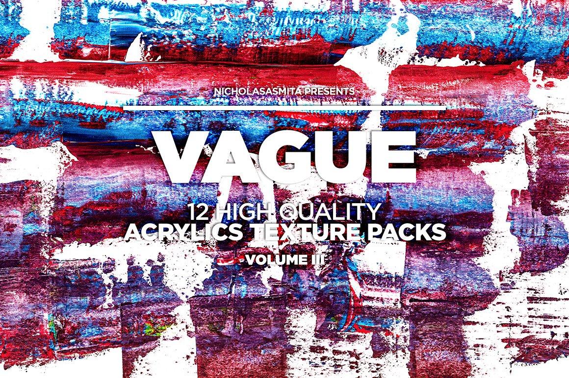 12款高清炫彩丙烯酸涂料背景纹理图片素材 Vague III: 12 Acrylics Textures插图(8)
