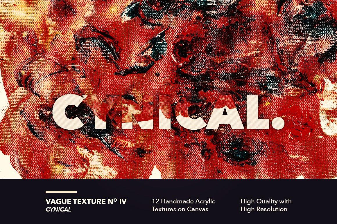 12款高清抽象炫彩丙烯酸涂料海报设计背景纹理图片素材 Vague I: 12 Acrylics Textures插图(4)