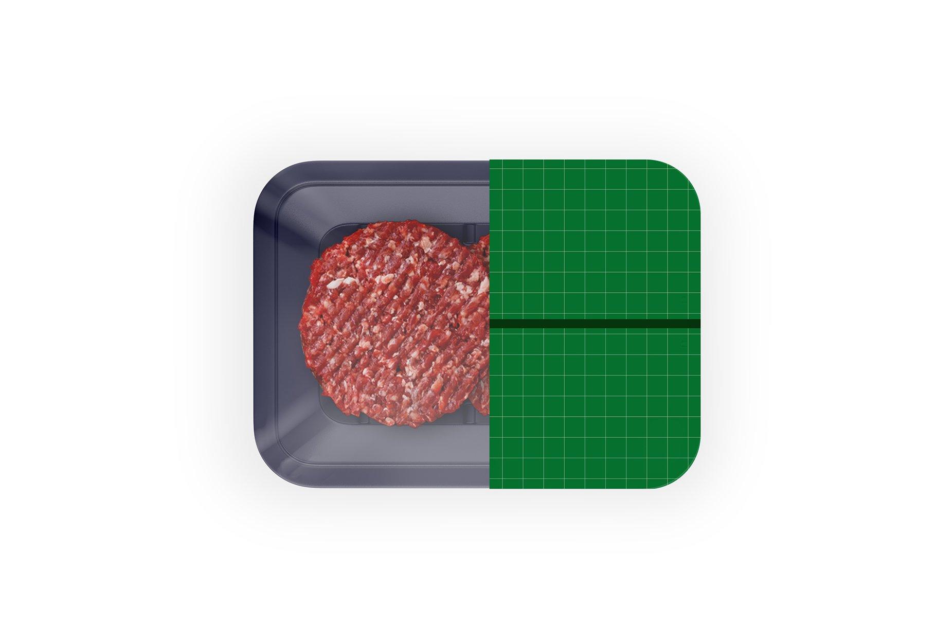 有机牛肉饼托盘设计展示样机 Organic Beef Cutlets Mockup插图(3)