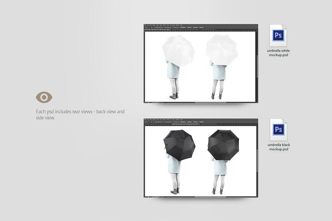 太阳伞雨伞印花设计展示样机模板 Umbrella Mockup插图(3)