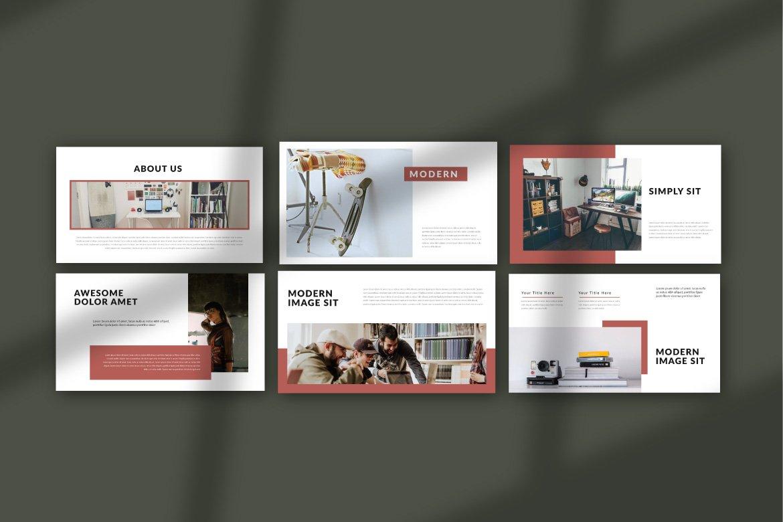 简约商业策划书演示文稿设计模板 PUDGE – Casual Powerpoint插图(1)