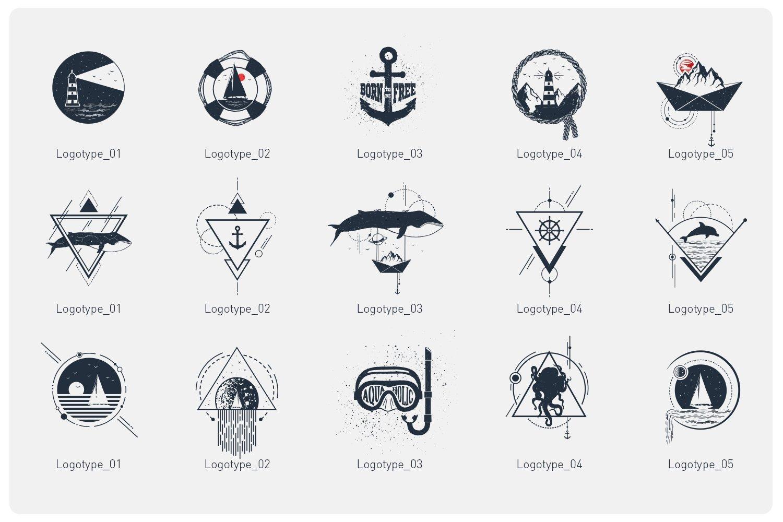 15款现代潮流徽标LOGO设计AI矢量模板 Welcome Aboard. 15 Logos & Badges插图(3)