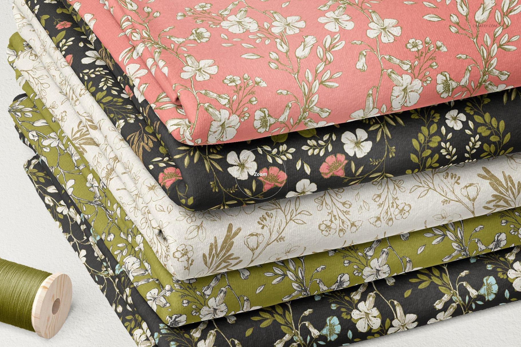 折叠纺织面料布料印花设计展示样机 Folded Fabrics Mockup 02/FF v.6插图(4)