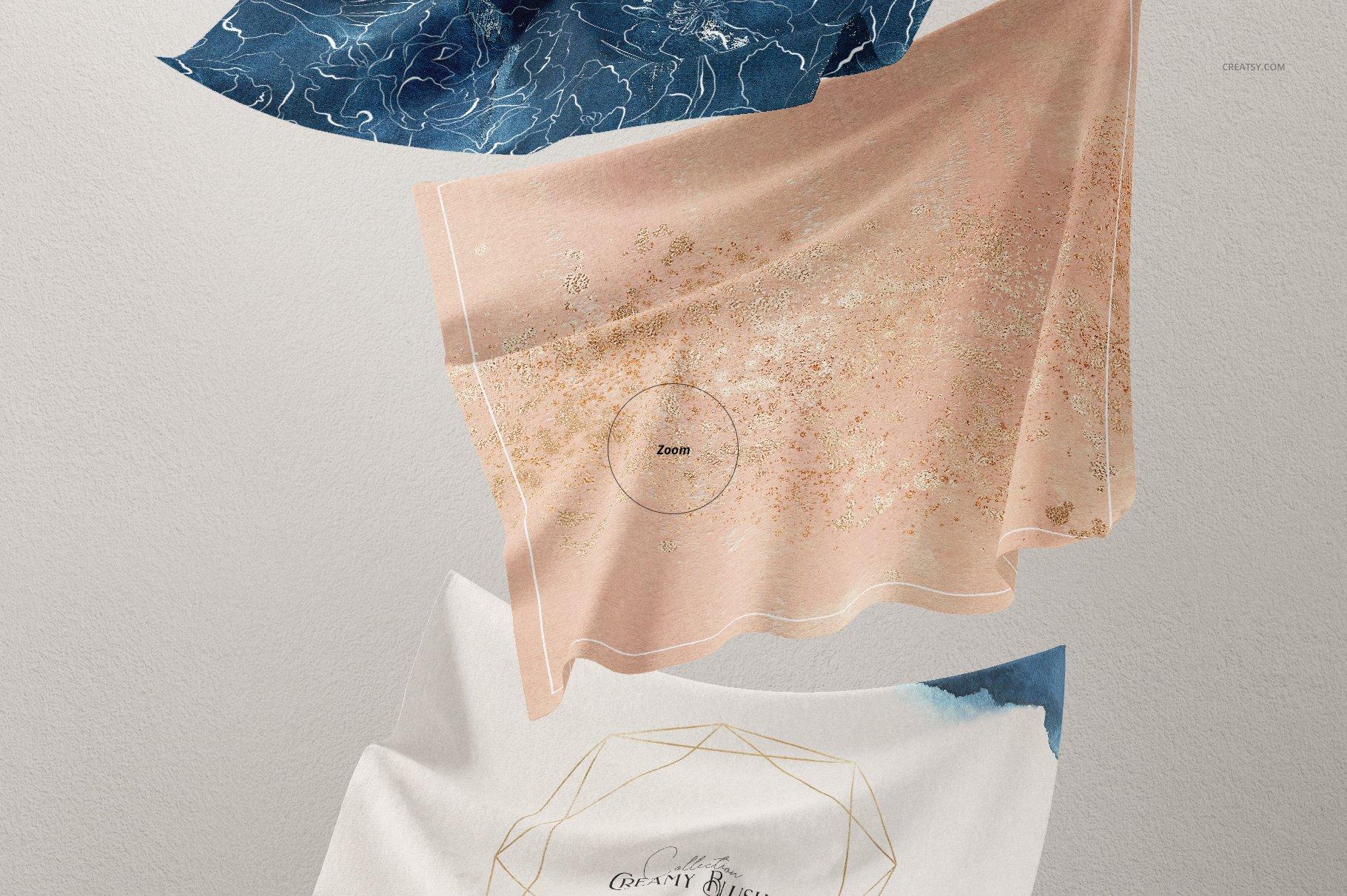 悬浮纺织物方巾印花设计展示样机 Floating Fabrics Mockup 08/FF v.6插图(4)