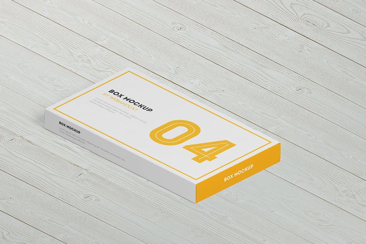 9款平面矩形药片包装盒设计展示样机模板 Package Box Mockup: Flat Rectangle Box插图(3)