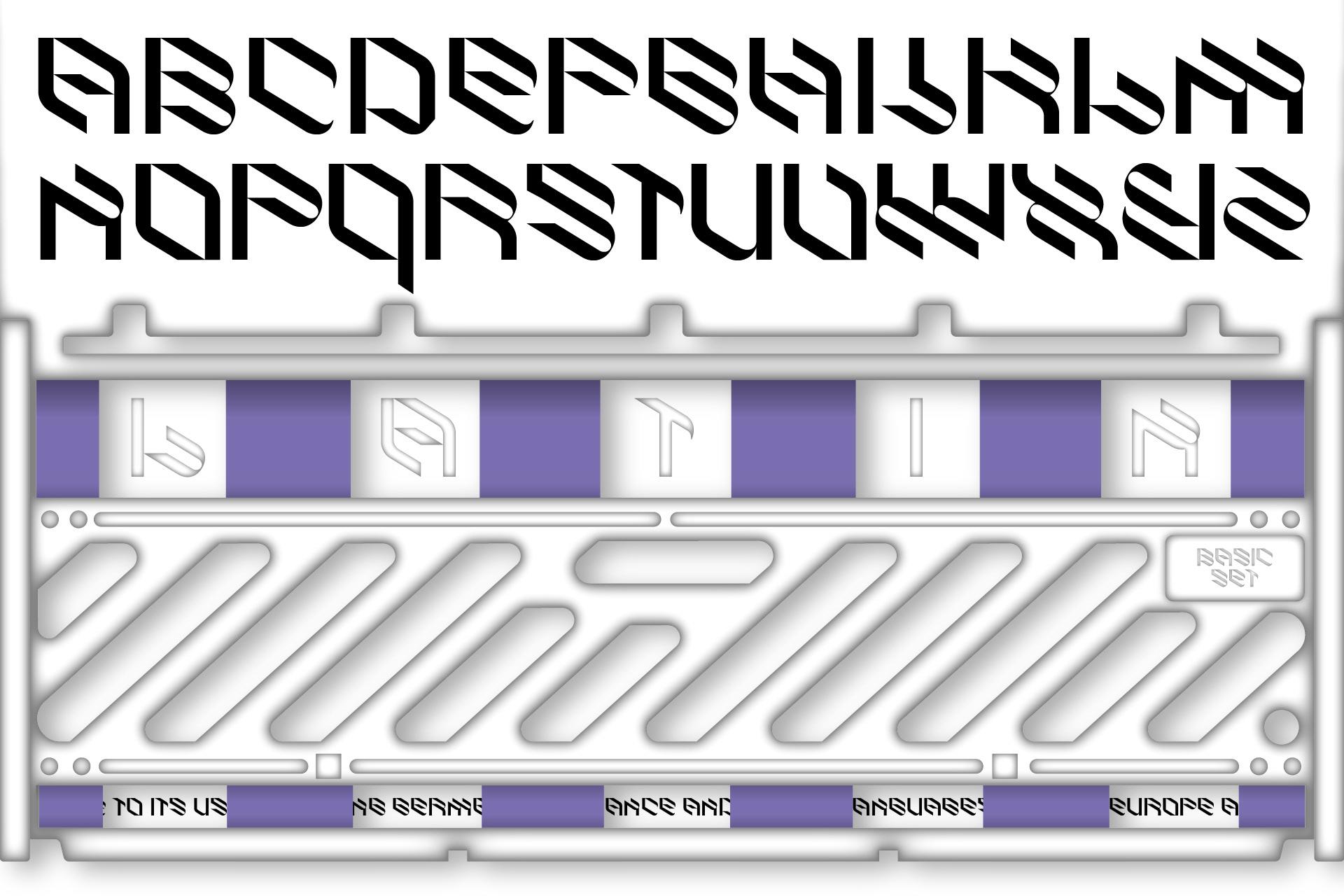 倾斜对角线英文字体下载 Eskos Typeface插图(3)