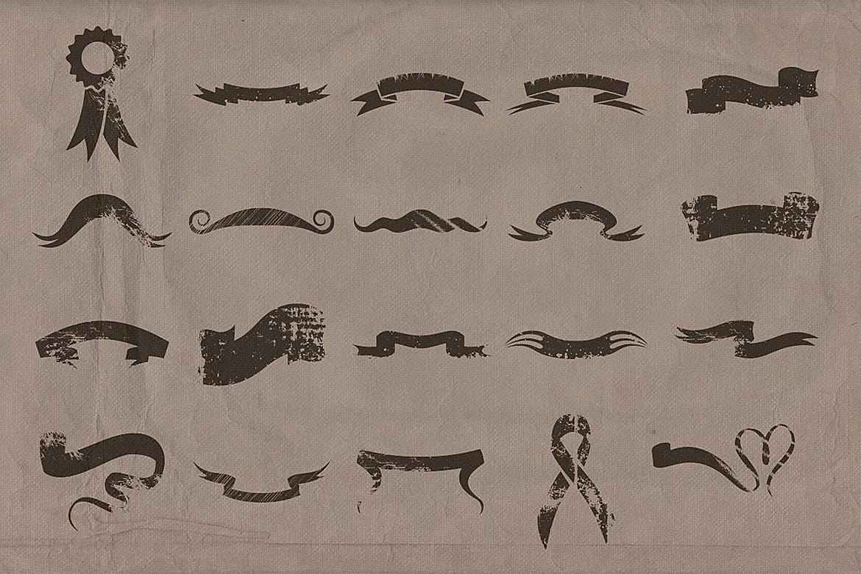 60款复古形状丝带矢量图案素材 Retro/Vintage shapes – Ribbons 2插图(3)