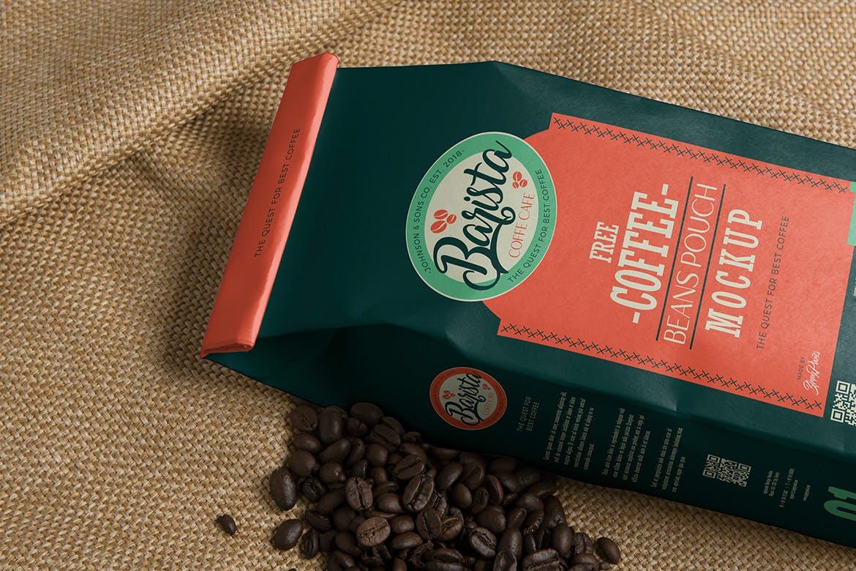 4款咖啡包装纸袋设计展示样机 4 Coffee Pouch Mockups插图(3)