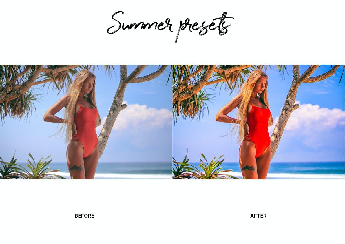 30款夏季海滩摄影照片调色LR预设模板 Summer Lightroom Presets插图(3)