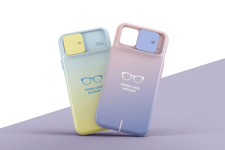 智能手机外壳印花设计展示样机 Phone Case Mockup插图(3)