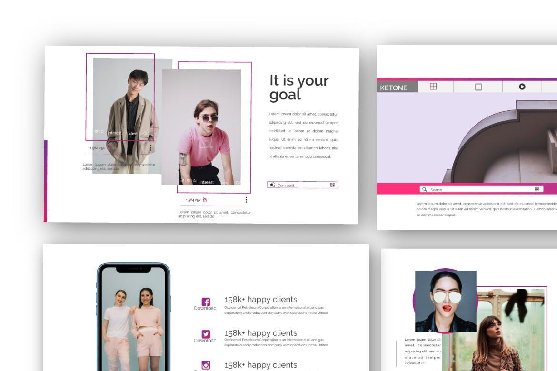 创意多用途商务营销幻灯片设计模板 KETONE – Powepoint Template Business Corporate插图(3)
