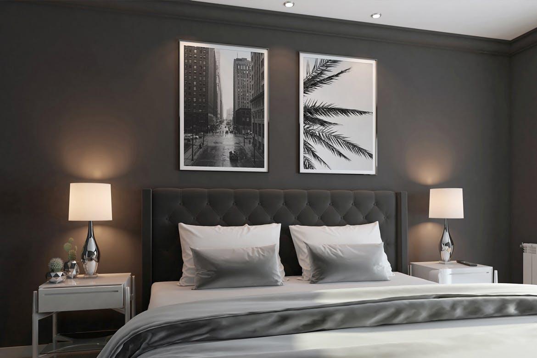 6款室内海报艺术品相片展示样机模板 Elegant Scene Mockups插图(3)