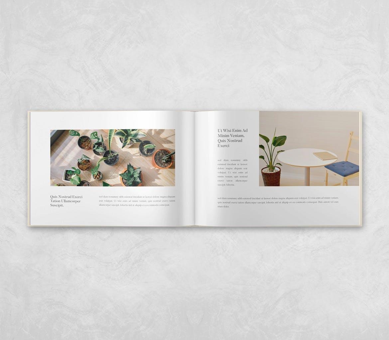 横向精装书画册设计智能贴图样机 Landscape Book – Mockup Vol.2插图(3)
