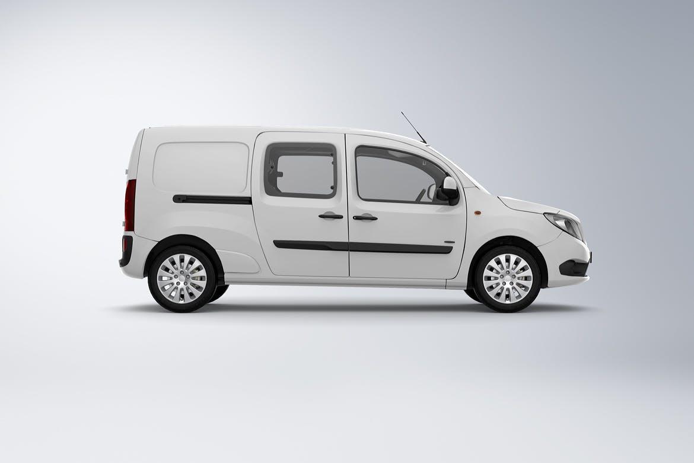 10款紧凑型面包车封闭货车车身广告设计展示样机 Compact Van Mockup插图(3)