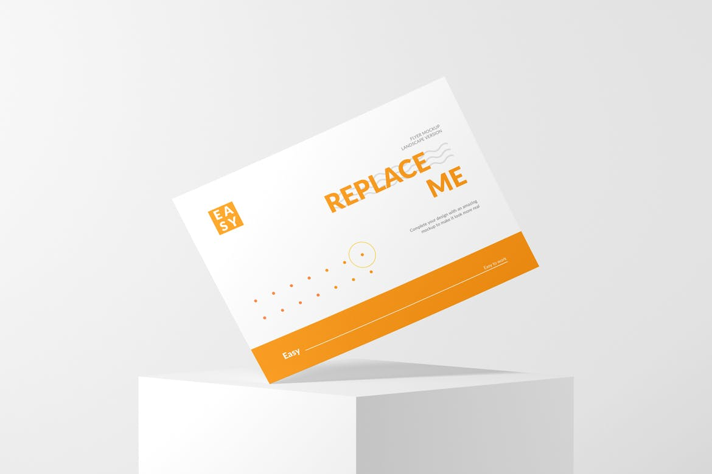 横版传单海报设计展示样机模板 Landscape Flyer Mockup插图(3)
