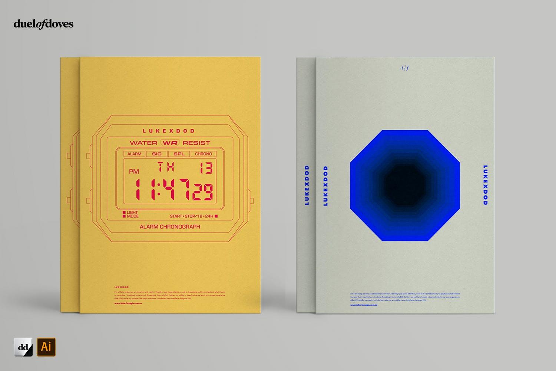 时尚海报简历文字版式设AI模板素材 Typographic Resume Posters – Vol. 3插图(3)