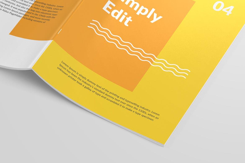 6款画册杂志设计展示样机模板 Magazine Close Up Mockup插图(3)