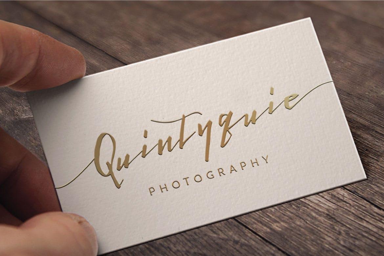 波浪艺术手写签名英文字体下载 Lightening Script Signature Font Logotype插图(3)