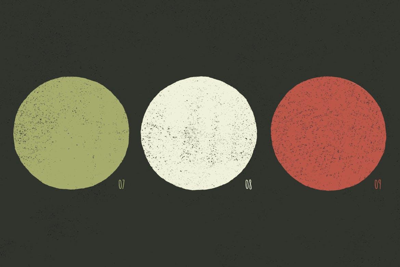 10款复古粗糙斑点背景纹理矢量素材 Vintage Texture插图(3)