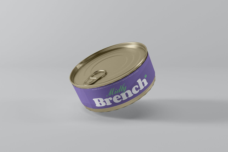 食品罐头金属罐设计展示样机 Food Tin Can Mockups插图(3)