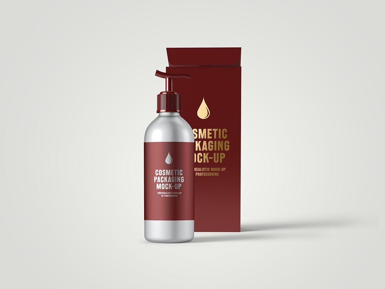 化妆品挤压瓶包装盒设计展示样机 Cosmetic Packaging Mockup插图(3)