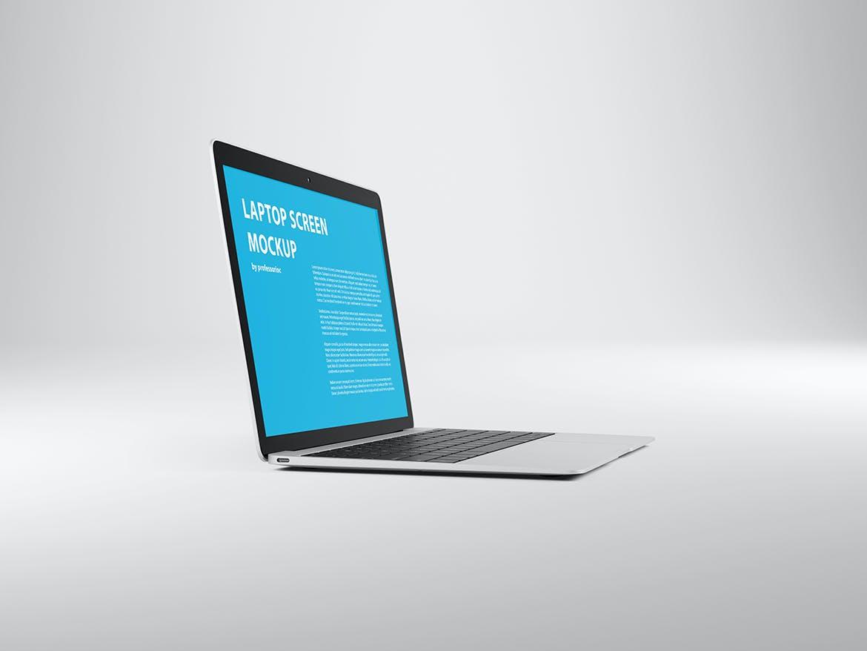 网页WEB设计笔记本电脑屏幕演示样机 14×9 Screen Mockup – Silver插图(3)