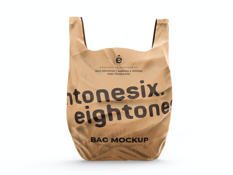 塑料袋设计展示样机模板 Plastic Bag Mockup Template插图(3)