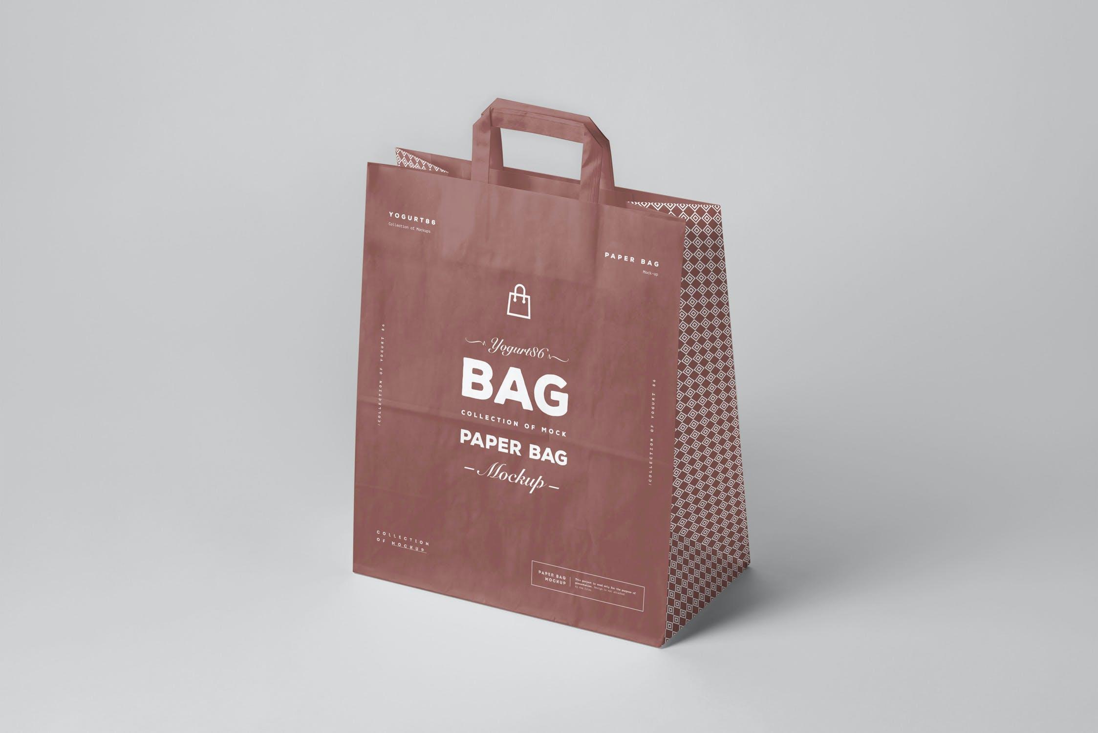 11款商城购物手提纸袋设计展示样机 Paper Bag Mockup 3插图(3)
