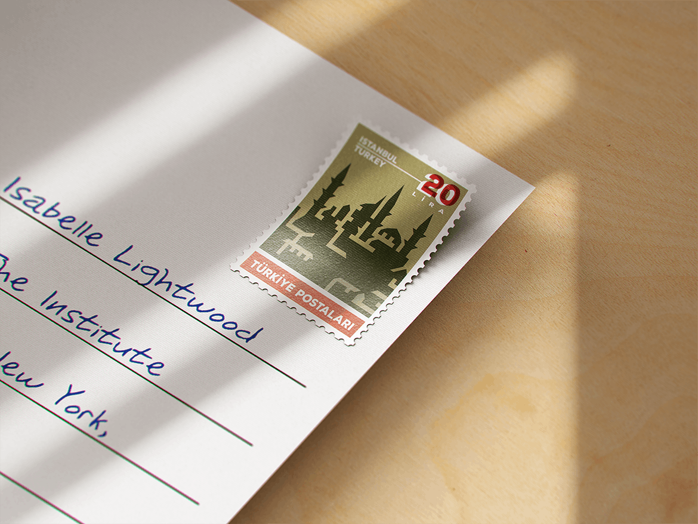10款复古邮票文创设计展示样机模板 Postage Stamp MockUp v1插图(3)