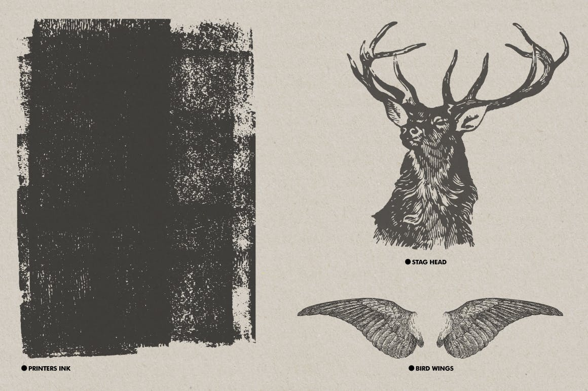 30款复古矢量插图背景纹理素材 Vintage Textures Pack插图(3)