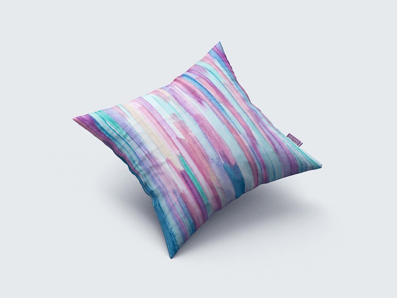 9款方形抱枕枕头靠垫设计展示样机 Square Pillow / Cushion MockUp插图(3)