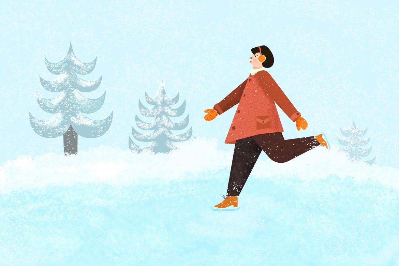 30个冬季雪花AI矢量笔刷素材 Snow And Winter Brushes For Adobe Illustrator插图(3)