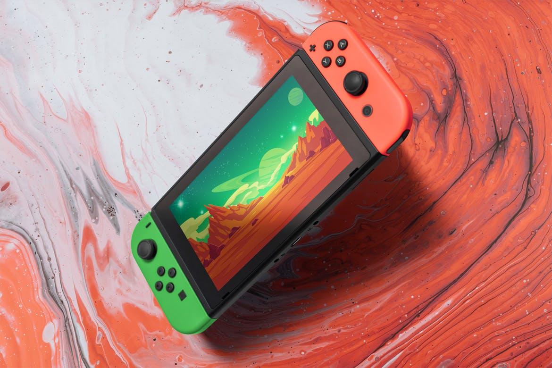8款Wii U掌上游戏机游戏设计预览样机 8 Switch Console Mockups插图(3)