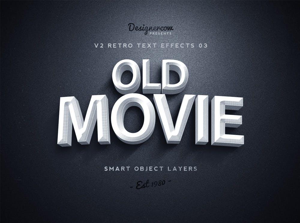 10款复古3D立体效果徽标标题字体设计PS样式模板 Retro Text Effects V2插图(3)