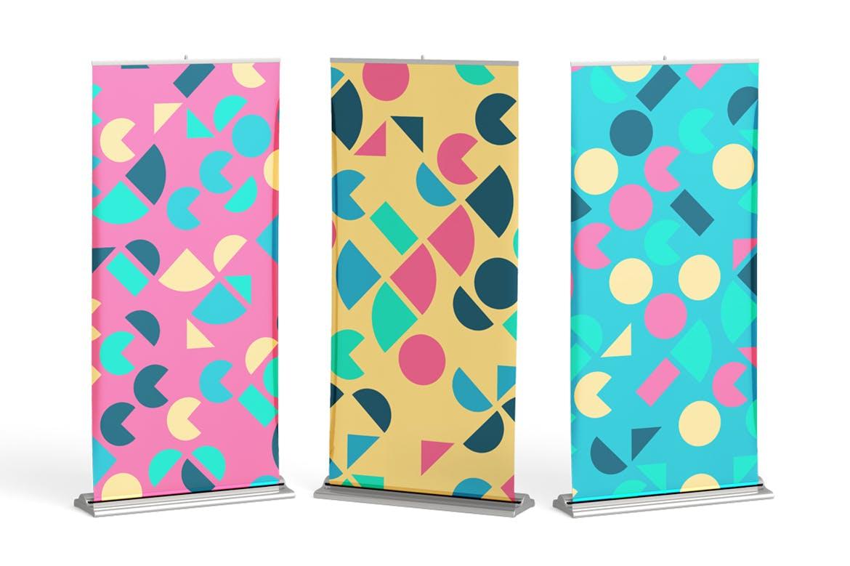 135复古多彩几何艺术图案矢量背景素材 135 Geometric Colorful Art Retro Patterns 001插图(3)
