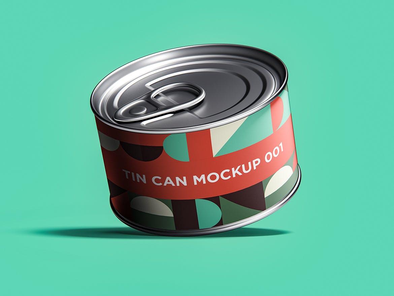 12款食品罐头易拉罐锡罐外观设计展示样机模板 Tin Can Mockup Set插图(3)