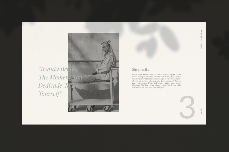 轻柔摄影作品集演示文稿设计模板 Elliette – Powerpoint插图(3)
