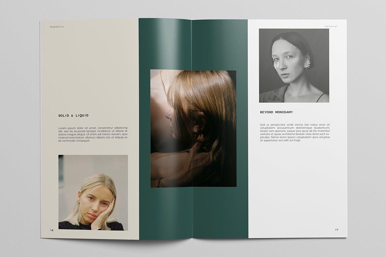 极简摄影作品集宣传册设计INDD模板 Photography Portfolio Brochure Template插图(3)