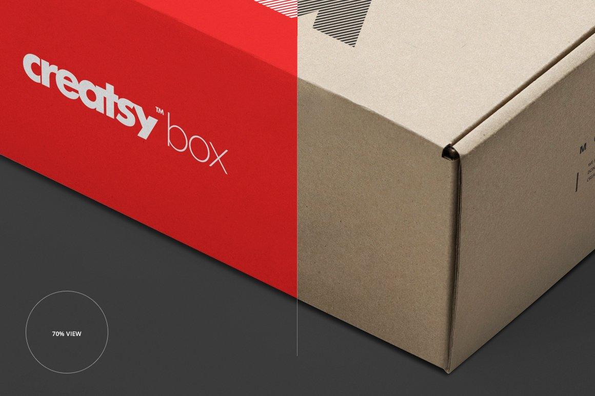 快递包裹纸盒外观设计展示样机集 Mailing Box Mockup Set插图(3)