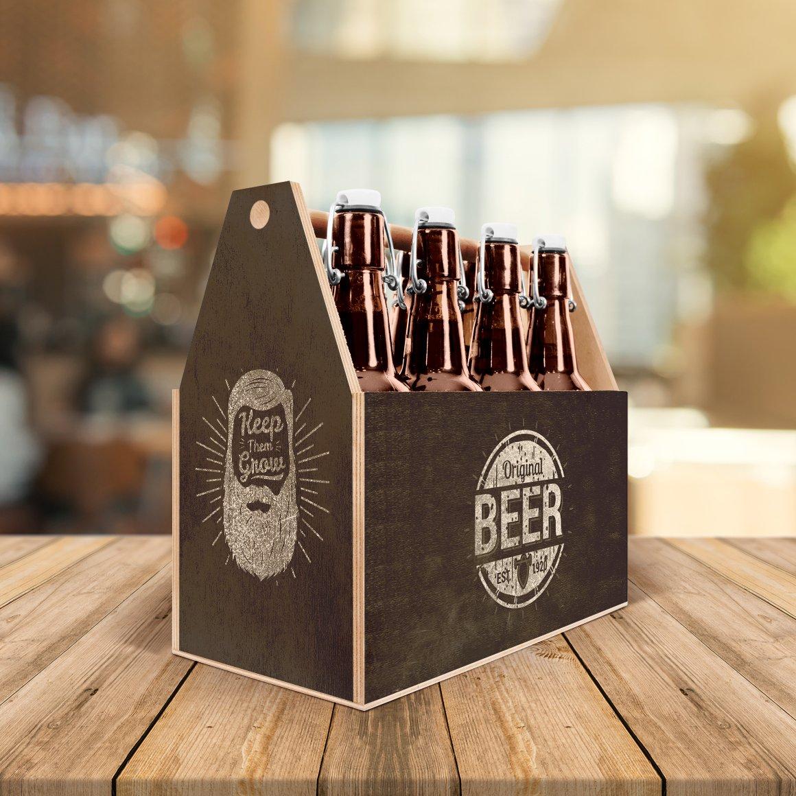 工艺啤酒包装盒设计展示样机模板 Craft Beer Box Mockup插图(3)