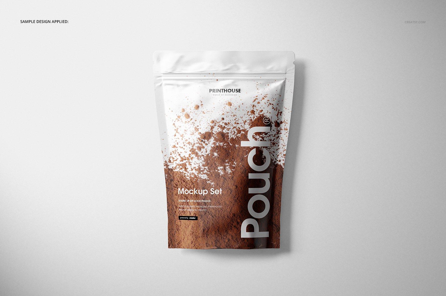 铝箔自立袋自封袋包装袋多角度PSD样机模板 Stand Up Pouch Mockup插图(6)