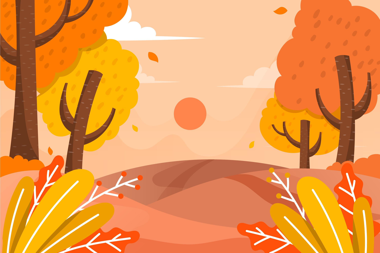 11款多彩秋季元素平面插图矢量素材 Autumn Background Flat Design Illustration Set插图(10)