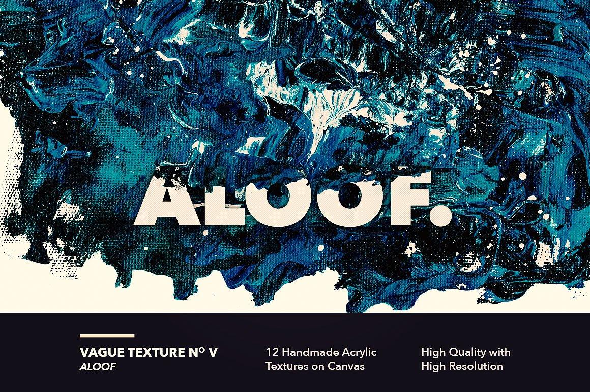 12款高清抽象炫彩丙烯酸涂料海报设计背景纹理图片素材 Vague I: 12 Acrylics Textures插图(5)