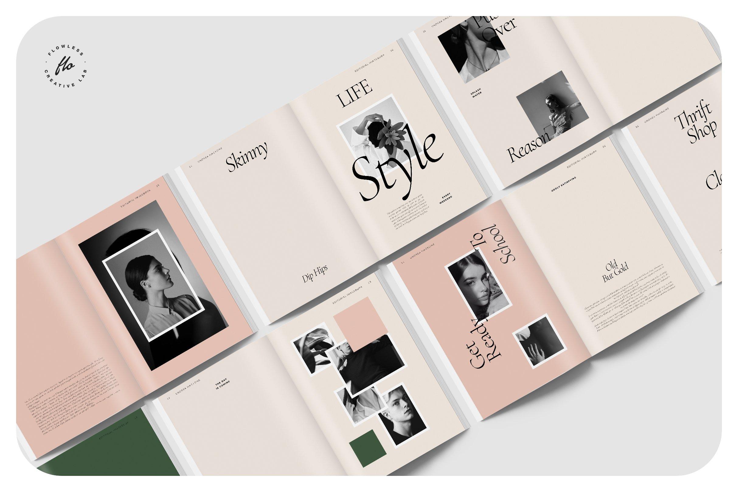 时尚服装设计作品集INDD画册模板 ONDREA Editorial Imagebook插图(4)