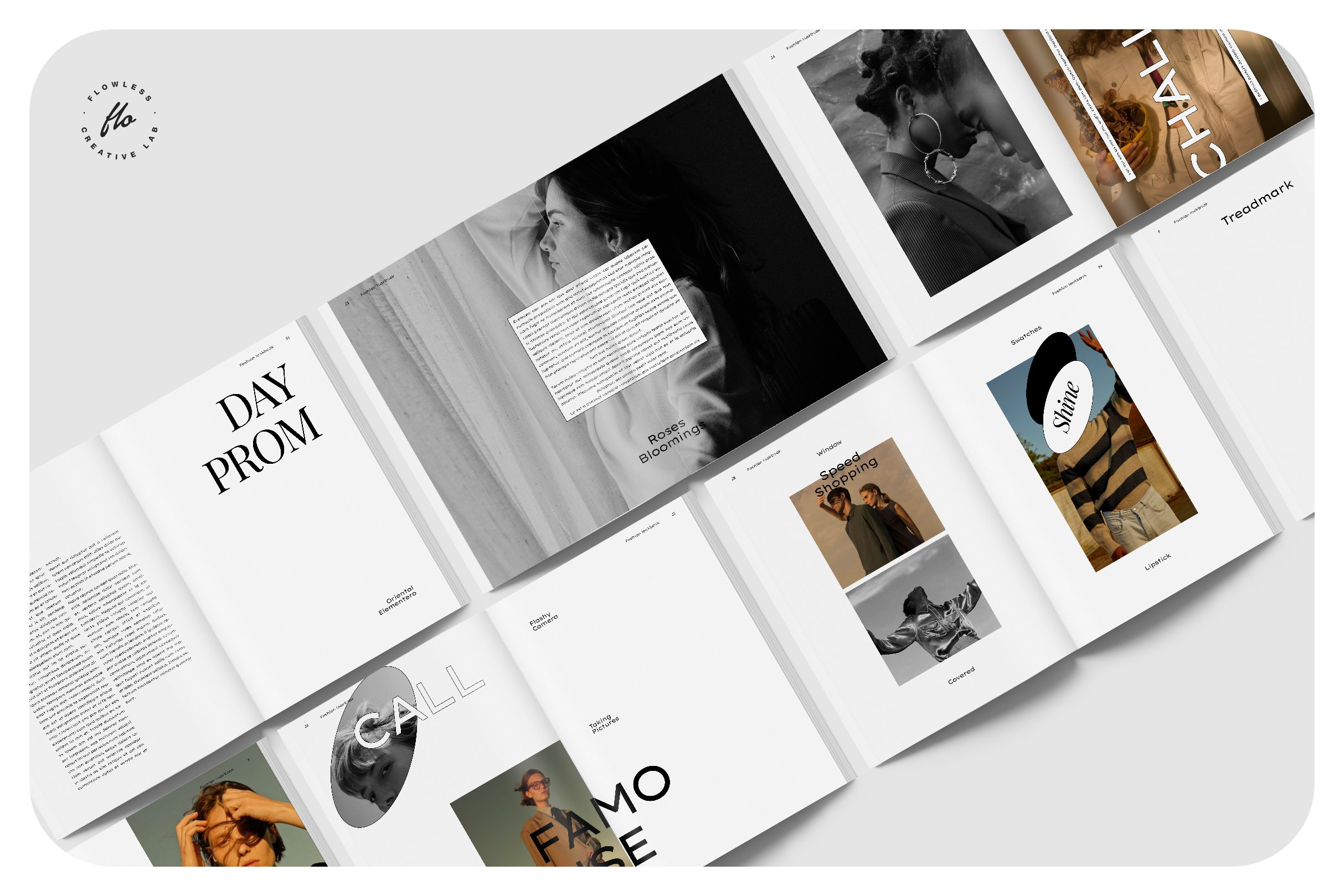 极简服装造型设计INDD画册模板 SOFT TOUCH Fashion Lookbook插图(4)