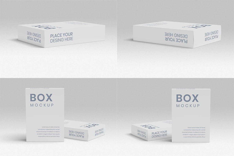 8款方形产品包装纸盒设计展示样机 Box Mockup 8 PSD Files插图(4)