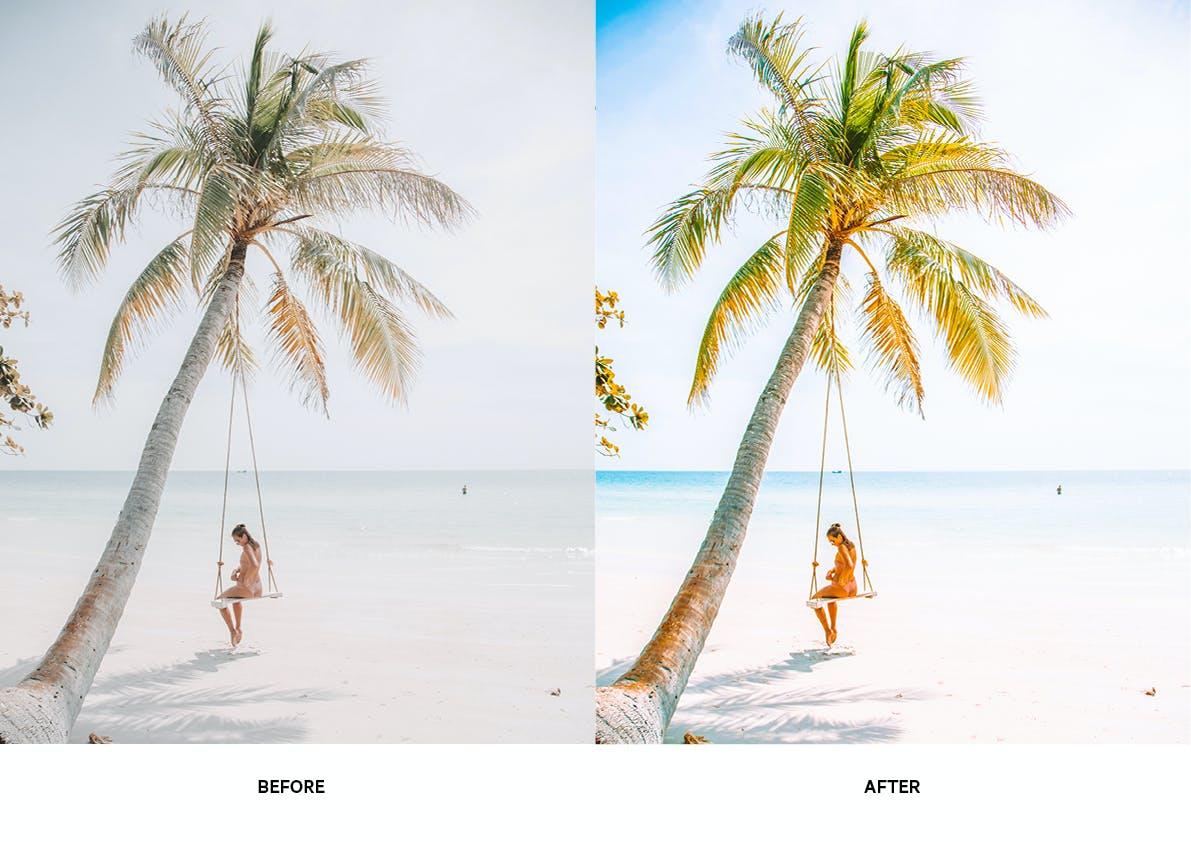 30款夏季海滩摄影照片调色LR预设模板 Summer Lightroom Presets插图(4)